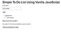 Simple To Do List Using ES6 Vanilla JavaScript